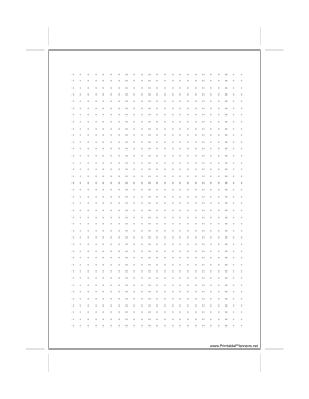 Printable A5 Dot Grid Right