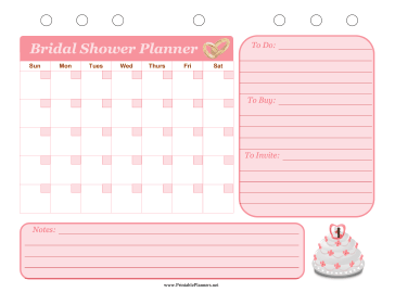printable bridal shower event planner