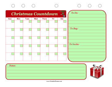 Printable Christmas Event Planner