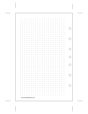 Printable Desktop Dot Grid Left