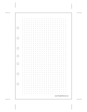 Printable Desktop Dot Grid Right
