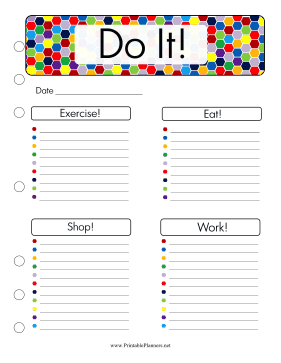Printable Do It Planner
