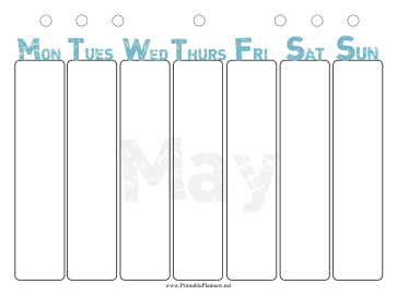 Printable May Weekly Planner