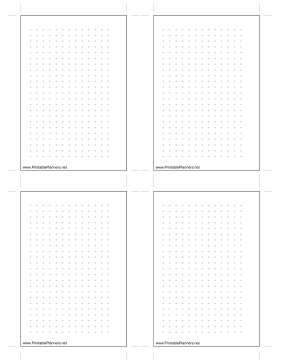 Printable Small Dot Grid Left