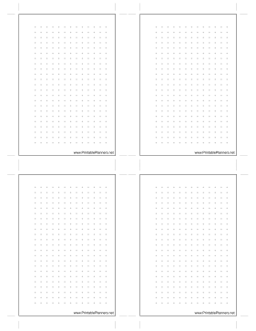 Printable Small Dot Grid Right
