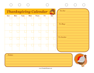 Printable Thanksgiving Event Planner