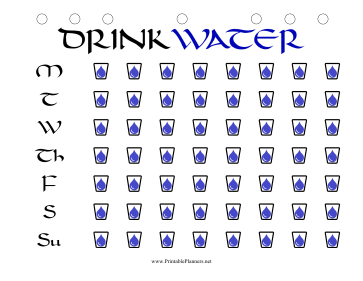 Printable Weekly Water Tracker