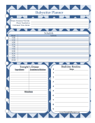 Printable Babysitter Planner Night
