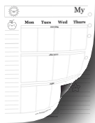Printable Colorable Two Page Week
