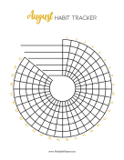 Printable Spiral Tracker August