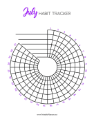Printable Spiral Tracker July