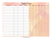Printable Watercolor Medication Tracker